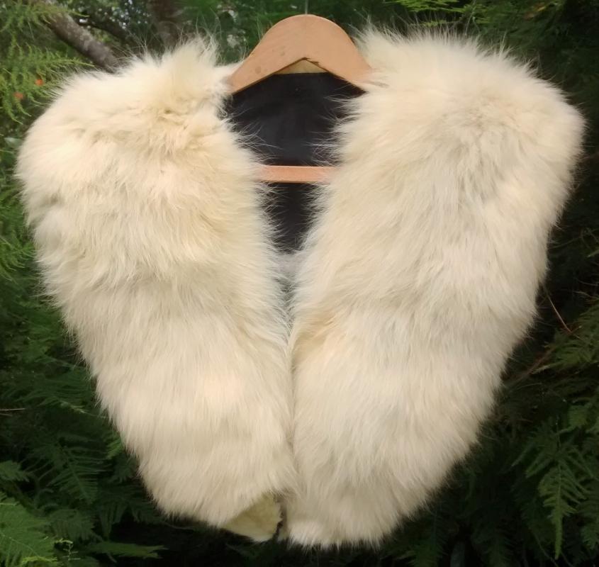 Vintage Arctic Fox Fur Collar Approx. 48