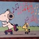 Vintage Peanuts Snoopy Puzzle 100 PC #4382-2 Skating
