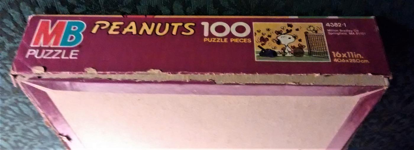 Vintage Peanuts Snoopy Puzzle 100 PC #4382-1 Tennis