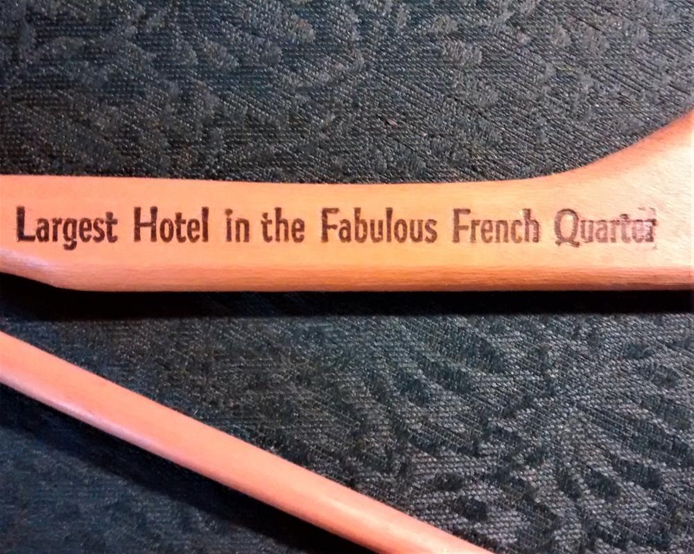 Vintage New Orleans Monteleone Hotel Clothes Hanger Ca. 1964+