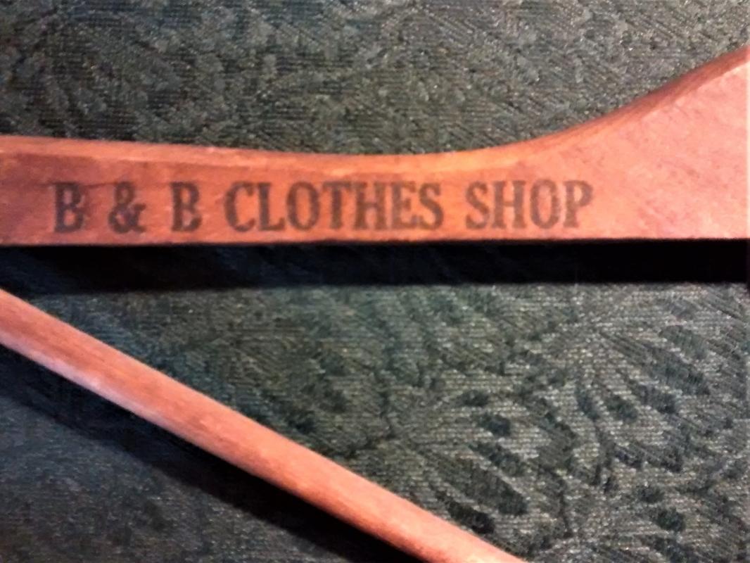 Vintage B& Clothes New York Wooden Hanger Ca. 1930s