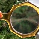 Vintage Deco German Magnifying Glass Amber Plastic Handle