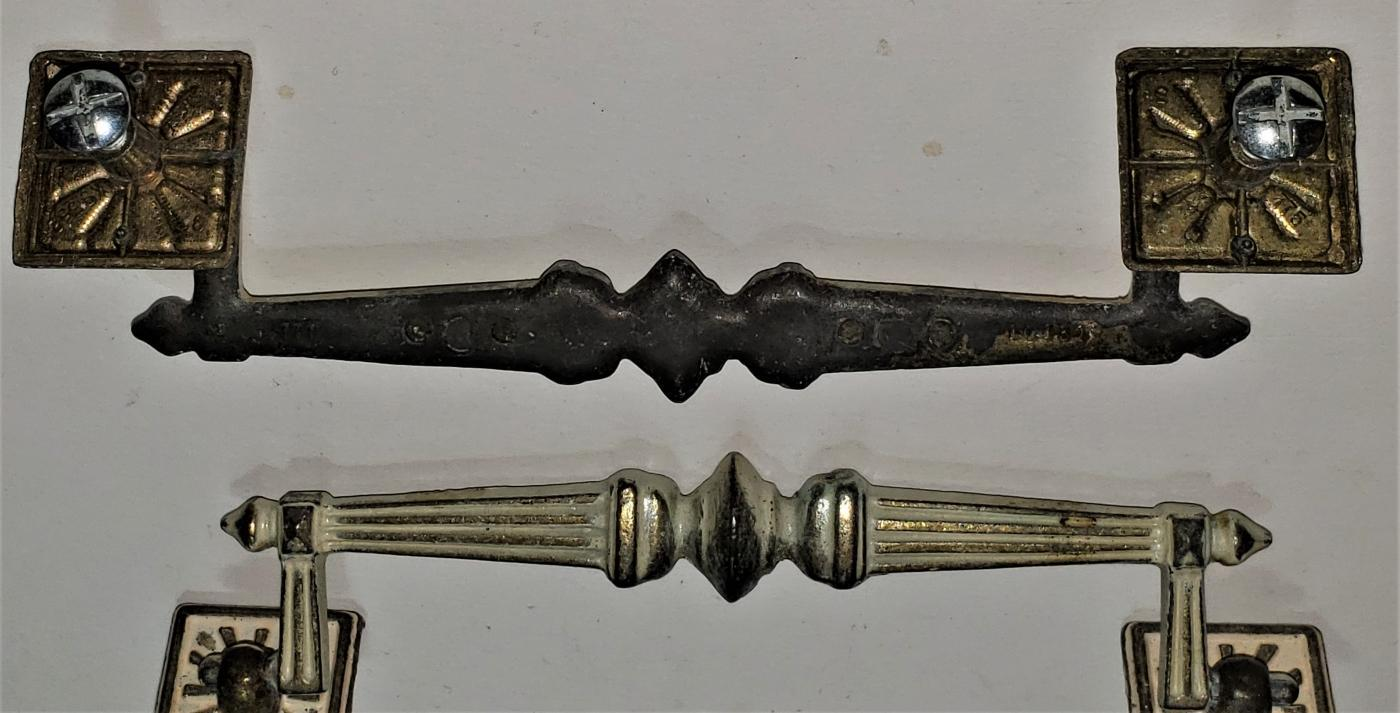 Vintage French Provincial Drawer Pull Set/6 Bail Handle 6