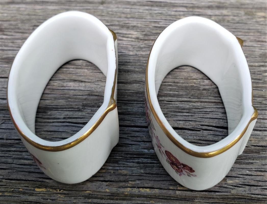 Vintage Royal Crown Derby Posies Napkin Ring Pair