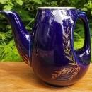 Vintage Hall Sundial Teapot Cobalt/Gold Art Deco NO LID