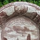 Antique Rowland/Marsellus San Francisco Souvenir Plate Ca. 1880 Brown Transfer