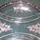 Vintage Silver City Flanders 3-Part Relish Silver Overlay Poppies 1950s