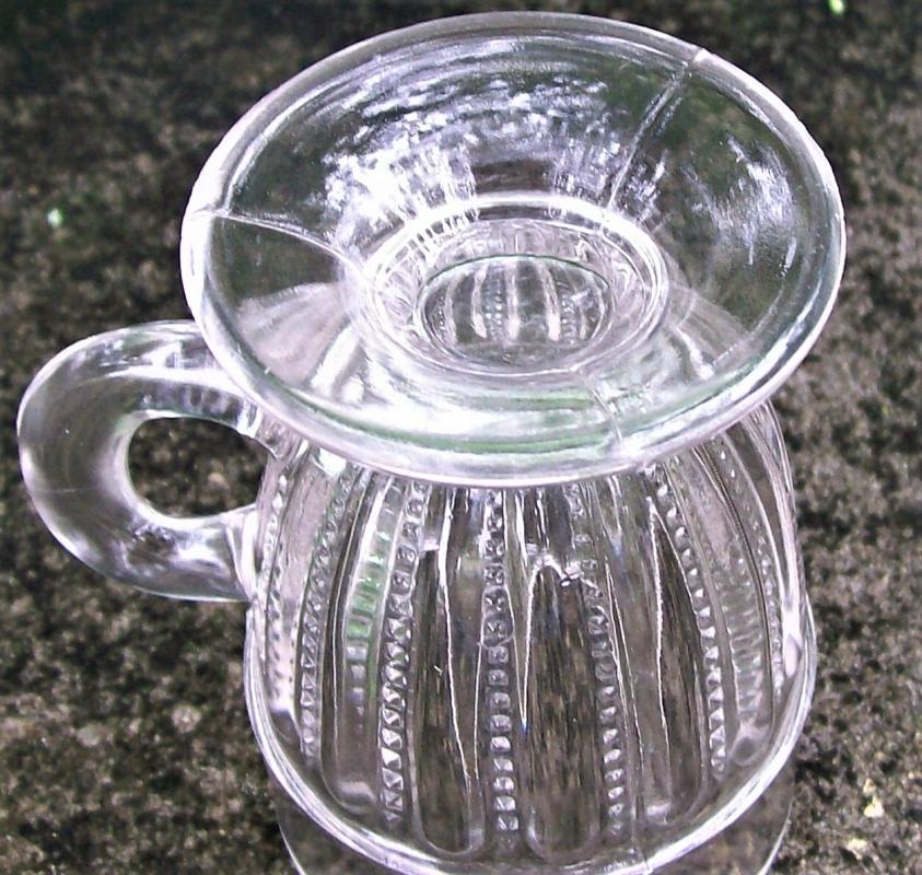 Antique Beaded Coarse Bars #22 Mug EAPG Indiana Tumbler & Goblet Co.