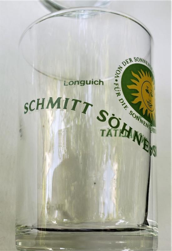 Vintage Schmitt Sohne Wine Glass Set/4 1980s Advertising