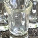 Vintage Hazel Atlas Paperweight Shot Glass Set/6 1930s-50s