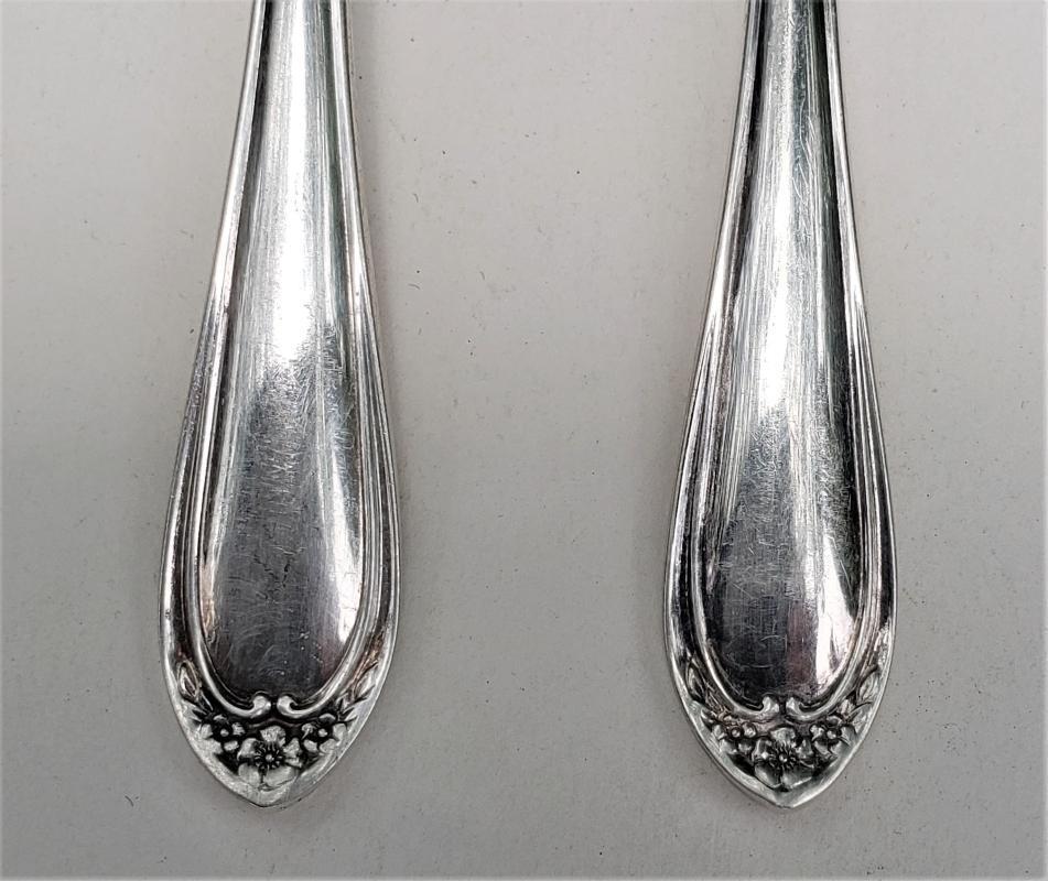 Vintage Reed/Barton Chapel Silver-Plate Iced Tea Spoon Set/6 Ca. 1985 No Monogram