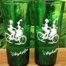 Vintage Hocking Forest Green Bicycle for Two Tumber Pair