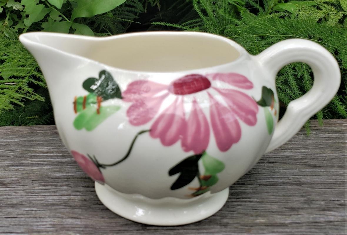 Vintage Blue Ridge Mardi Gras Creamer Southern Potteries 1940s