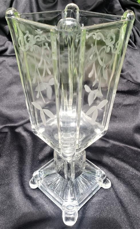 Antique Adams #75 Post/Square Panes Celery Vase EAPG Late 1882