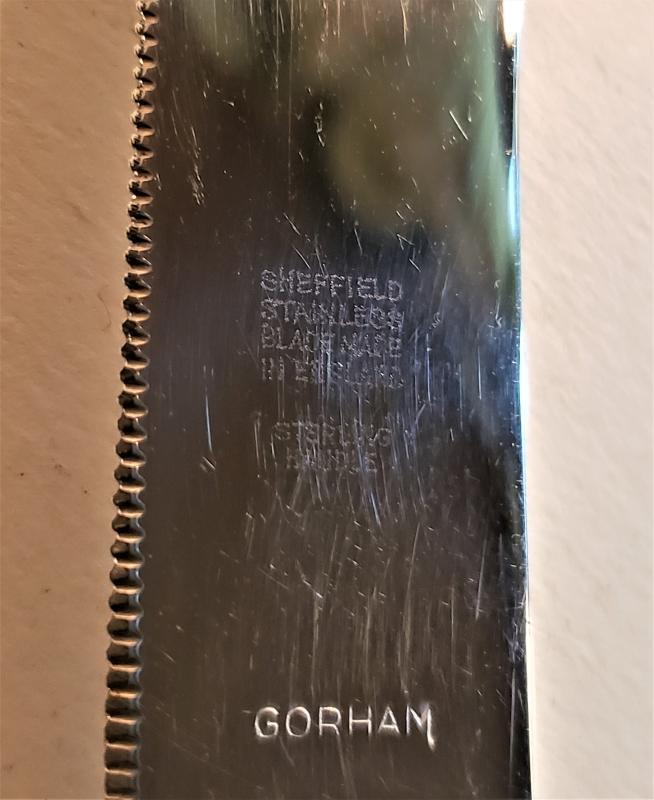 Vintage Gorham Lily Sterling Cake/Bread Knife No Monogram