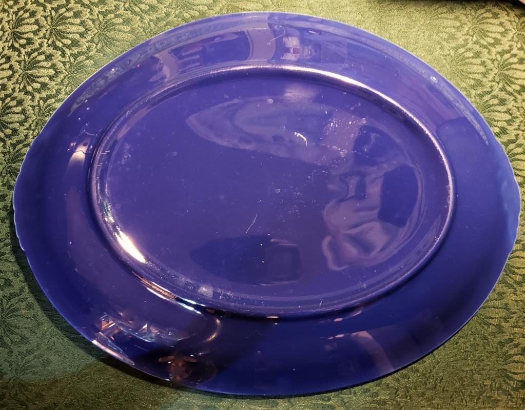 Vintage Paden City Caliente Platter Sapphire Blue 1937+