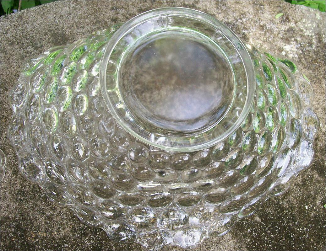Vintage Westmoreland Thousand Eye Console Set #1000 Clear Glass 1934-56
