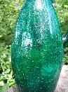 Vintage Crackle Glass Pitcher Teal Green 1950s-60s 12