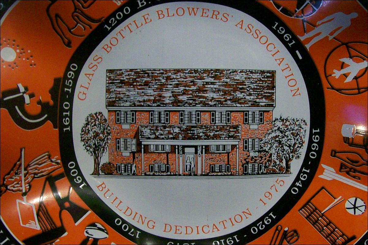 Glass Bottle Blowers Association Commemorative Dish 1975 7.5