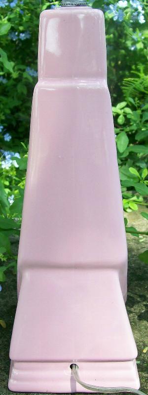 Mid-Century Modern Lamp Pink Ceramic Rewired 22.5
