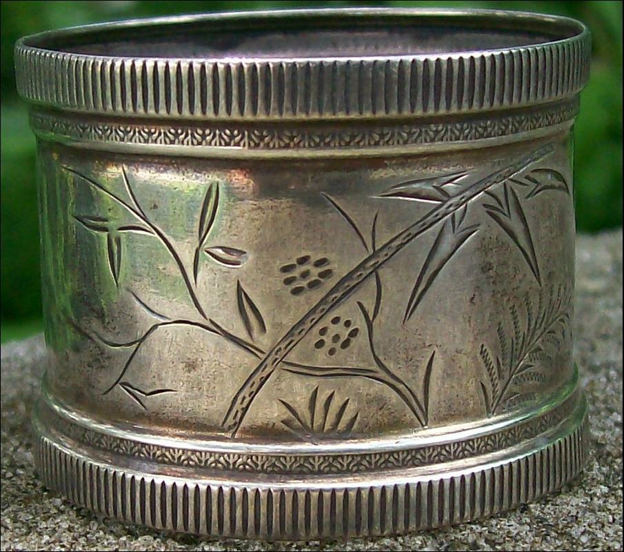 Antique Sterling Silver Napkin Ring Eastlake/Aesthetic Ca. 1880's