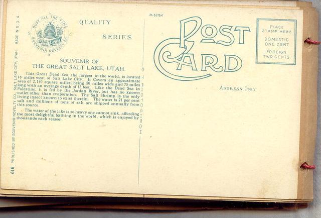 Antique Postcard Booklet Salt Lake City Utah Early 1900's 53 Cards