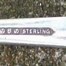 Vintage Sterling Silver Castle Rose Child's Fork Ca. 1942 Royal Crest