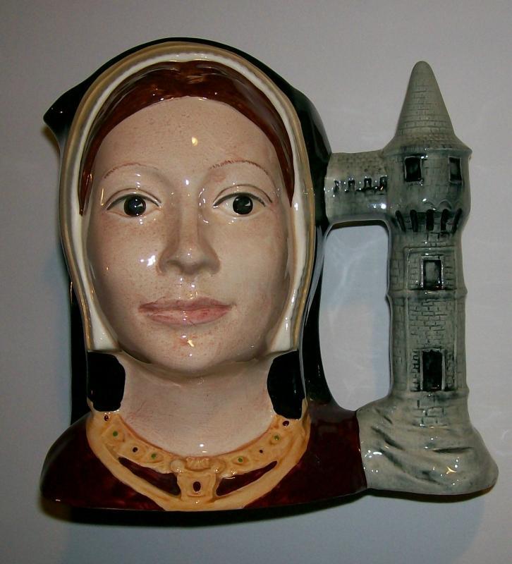 Vintage Royal Doulton Catherine of Aragon Character Jug D6643 Copyright 1975