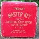 Vintage Kratt Master Key Chromatic Music Pitch Instrument w/Box