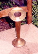 Antique Brass Vase Jack-in-the-Pulpit by Friedman of New York