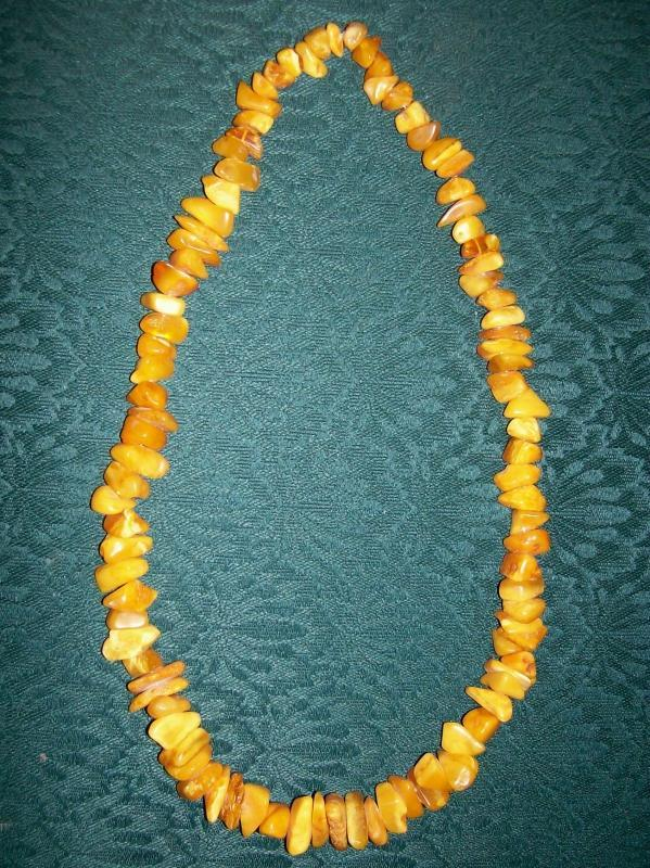 Vintage Baltic Amber Necklace Natural Nugget 24