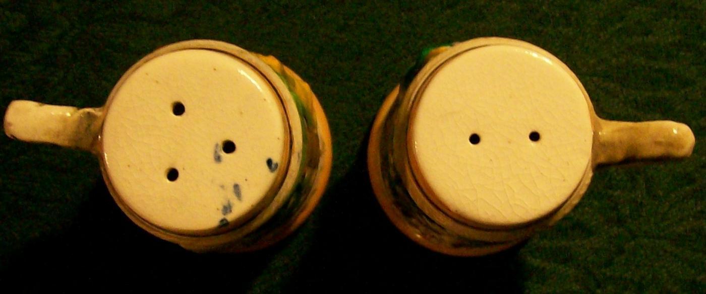 Figural Beer Stein Ceramic Salt & Pepper Shakers 1950's Japan