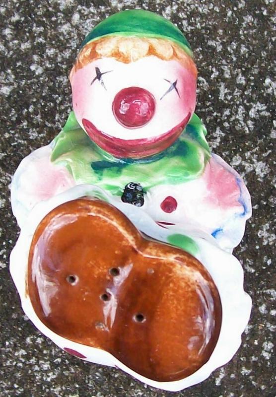 Vintage Circus Clown Salt Shaker 1950s Japan