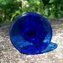 Vintage Paden City Cobalt Perfume Bottle #502 No Stopper 1940s Blue Glass