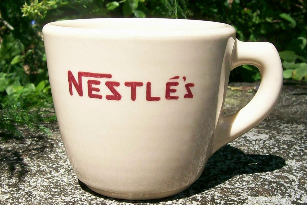 Vintage Nestle Cocoa Advertising Mug Sterling China Restaurant 1950