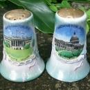 Vintage Dragonware Souvenir Shakers Salt & Pepper Washington D.C. 1950s-60s
