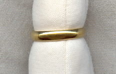 Vintage 18K+ Gold Wedding Band Ring 3g 1950s Sz 5 1/2