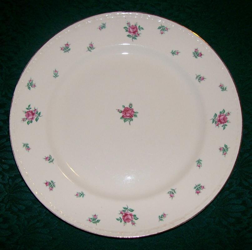 H. Laughlin Rambler Rose Ceramic Plate 10