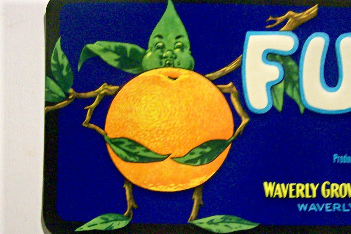 Vintage Florida Citrus Label Waverly Growers