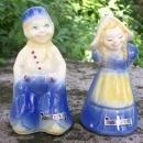 Vintage Shawnee Dutch Children Salt & Pepper #323 Souvenir of Johnstown, Pennsylvania