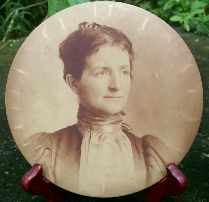 Antique Columbia Portrait Metal Photo Pair Man/Woman 6