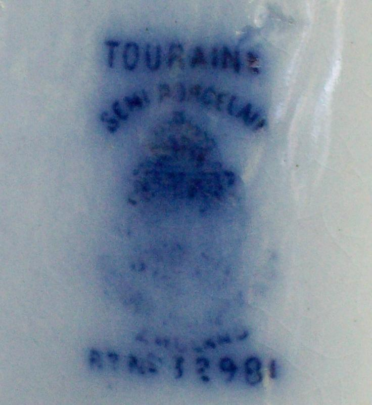 Antique Touraine Flow Blue Platter 1885 Alcock 15