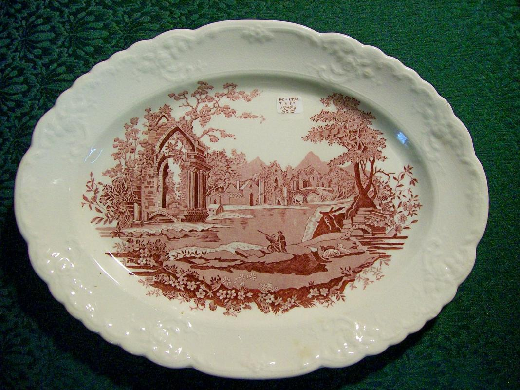 English Abbey Ceramic Platter by Taylor Smith & Taylor 13.5