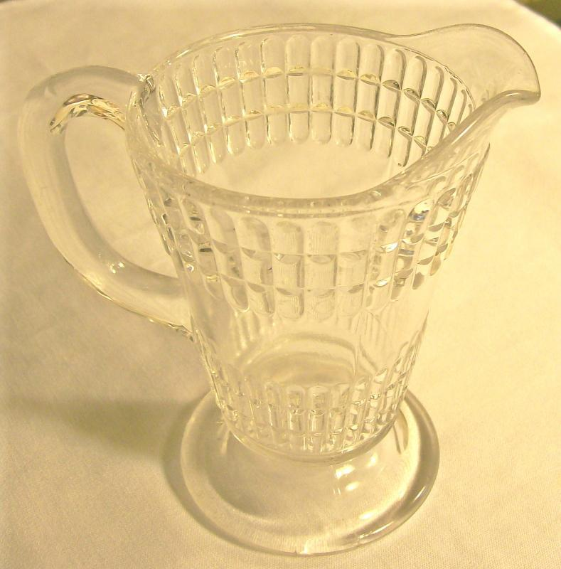 Columbia Double Beetle Band Creamer Early American Pressed Pattern Glass