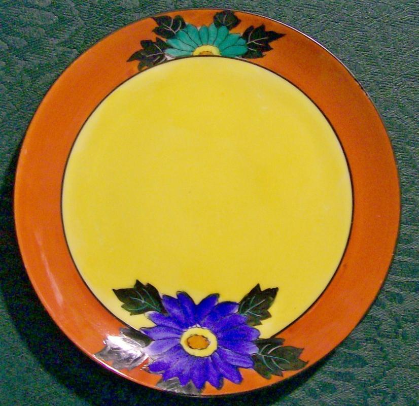 Vintage Noritake Art Deco Plate Set of 12 Bold Colors 6.25