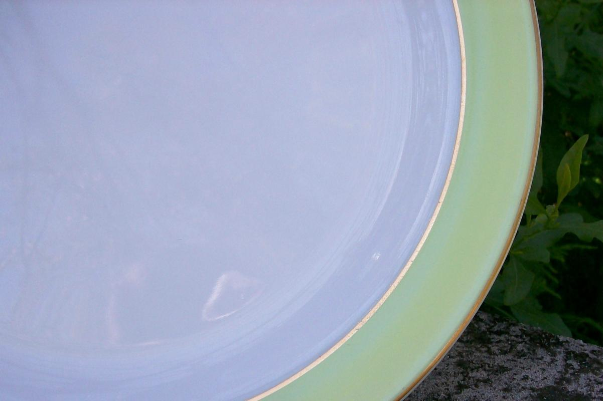 Pyrex Lime-Green Band Chop Plate 12 3/8