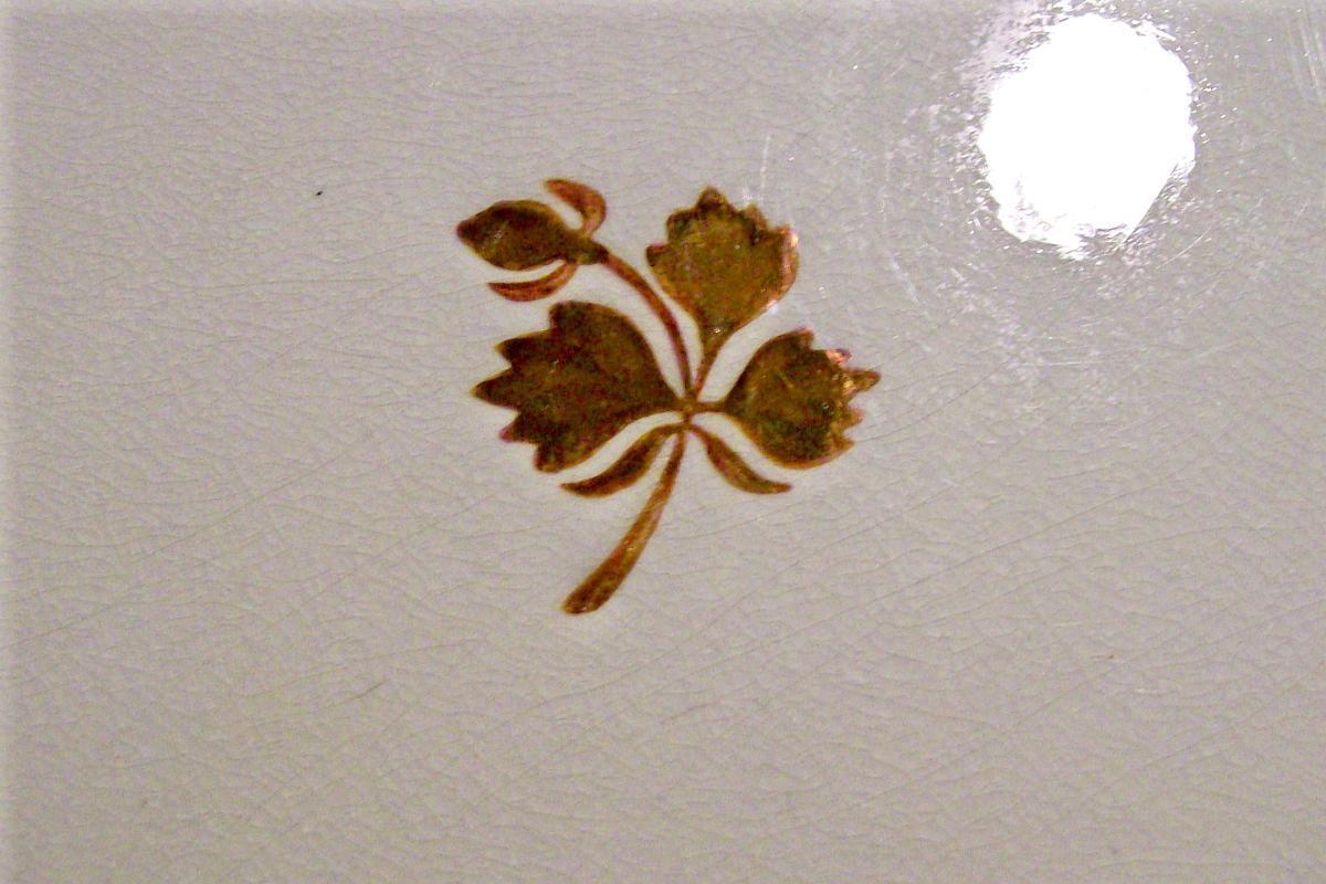 Antique Tea Leaf Ironstone Platter Mayer 1881-91 Copper Luster Rectangular
