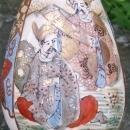 Antique Japanese Satsuma Bottle Vase with Students Late 1800's Ceramic Marked 8.25