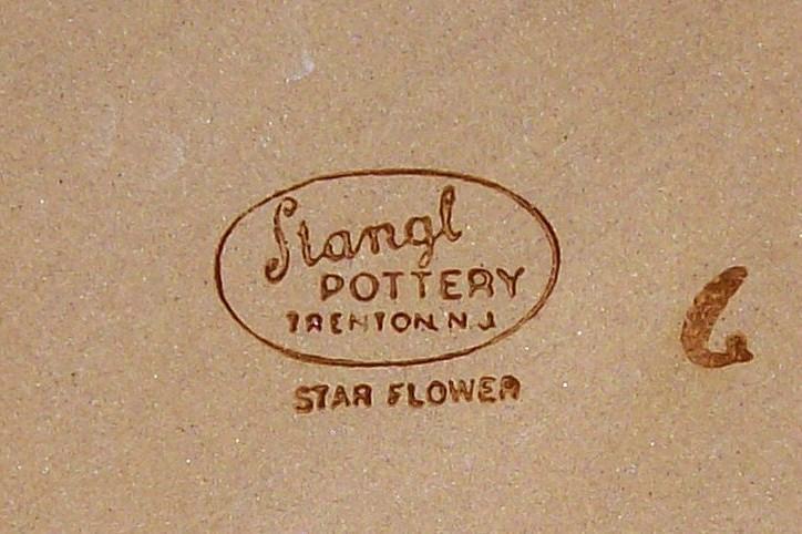 Stangl Star Flower Ceramic Dinner Plate 10 1/8