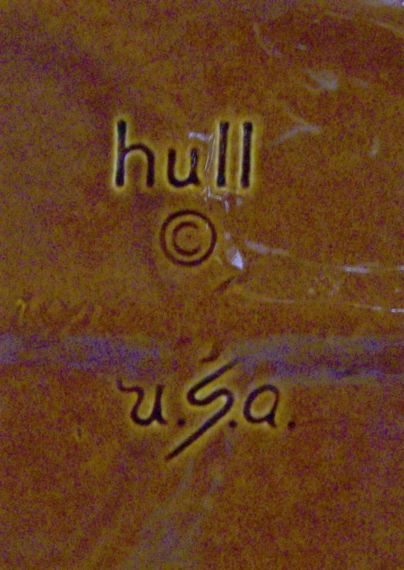 Vintage Hull Mirror Brown Steak Platter House & Garden 14.25